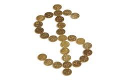 Pièces de monnaie de Singapour Photographie stock