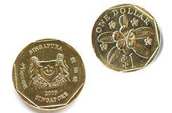 Pièces de monnaie de Singapour Photo stock