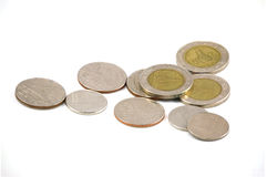 Pièces de monnaie de TH Image stock