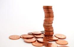 Pièces de monnaie de tour Photographie stock libre de droits
