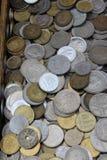 Pièces de monnaie de Vieux Monde, affaires, fond Image libre de droits