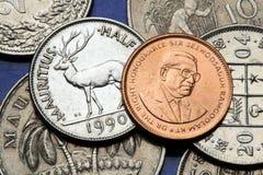 Pièces de monnaie des Îles Maurice Photographie stock libre de droits