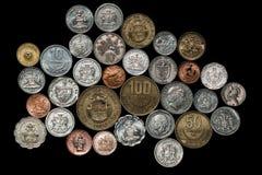 Pièces de monnaie des Caraïbes sud-américaines centrales photos libres de droits