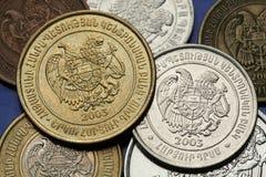 Pièces de monnaie des Emirats Arabes Unis Image stock