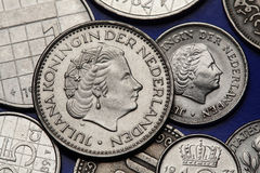 Pièces de monnaie des Pays-Bas Images libres de droits