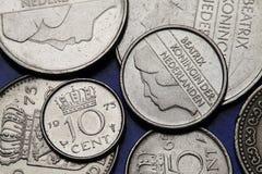 Pièces de monnaie des Pays-Bas Photographie stock
