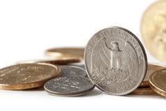 Pièces de monnaie des USA Photos libres de droits