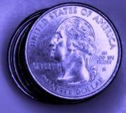 Pièces de monnaie des USA Photographie stock