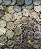 Pièces de monnaie de dixième de dollar des Etats-Unis images libres de droits
