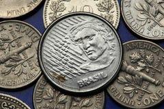 Pièces de monnaie du Brésil Images libres de droits