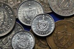 Pièces de monnaie du Cuba Image libre de droits