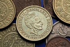 Pièces de monnaie du Danemark Photographie stock libre de droits
