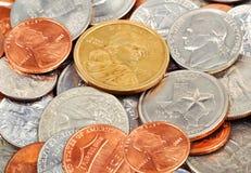 Pièces de monnaie du dollar Image libre de droits
