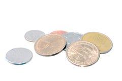 Pièces de monnaie du dollar Photos stock