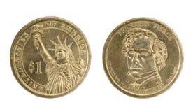 Pièces de monnaie du dollar Photo stock