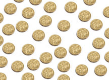 Pièces de monnaie du dollar australien Photo stock