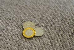 Pièces de monnaie du dollar de Singapour Image stock