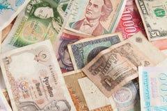 Pièces de monnaie du monde Photos libres de droits