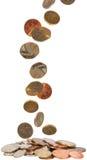 Pièces de monnaie du Royaume-Uni Image stock