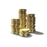 Pièces de monnaie empilées Photo stock