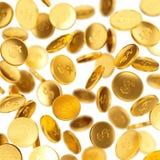 Pièces de monnaie en baisse Images stock