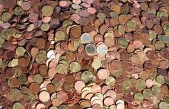 Pièces de monnaie en cuivre photographie stock libre de droits