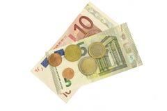 Pièces de monnaie et billets de banque Image libre de droits