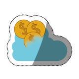 Pièces de monnaie et conception de calcul de nuage Photo libre de droits