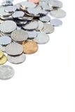 Pièces de monnaie et espace de copie Photo libre de droits