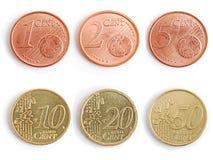 Pièces de monnaie - euro Photos libres de droits