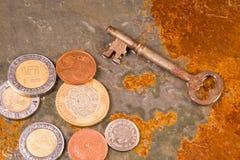 Pièces de monnaie financières Images libres de droits