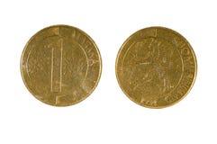 Pièces de monnaie Finlande 1 mark finlandais Images stock