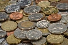 Pièces de monnaie, fond Photo libre de droits