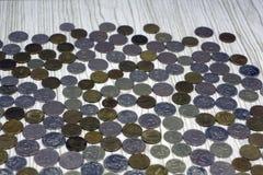 Pièces de monnaie, fond et texture antiques vietnamiens images stock