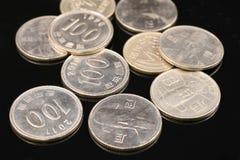 Pièces de monnaie gagnées sud-coréennes Photo libre de droits