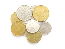 Pièces de monnaie grecques de drachme Image stock