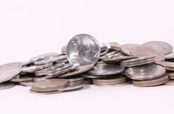 Pièces de monnaie indiennes Photo libre de droits