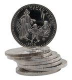 Pièces de monnaie kazakhs Photos libres de droits