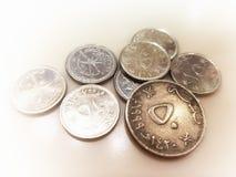 Pièces de monnaie de l'Oman Argent de l'Oman photos stock