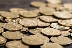 Pièces de monnaie de l'Ukraine photos stock
