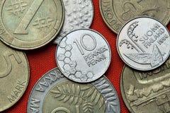 Pièces de monnaie de la Finlande