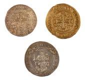 Pièces de monnaie de la République de Gênes, Italie Images libres de droits