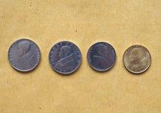 Pièces de monnaie de Lire de Vatican, l'État de la Cité du Vatican Image libre de droits