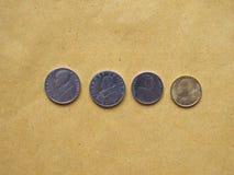 Pièces de monnaie de Lire de Vatican, l'État de la Cité du Vatican Images stock