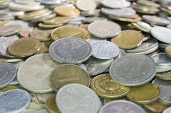 Pièces de monnaie mélangées. Photos libres de droits