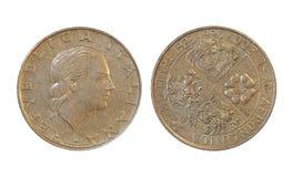 Pièces de monnaie de ` de pays vieilles, Italie photo stock