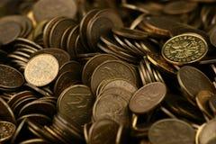 Pièces de monnaie, pièces de monnaie, pièces de monnaie Images libres de droits