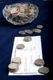 Pièces de monnaie pour le dépôt de garantie Photo libre de droits