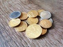 Pièces de monnaie réelles Photographie stock libre de droits