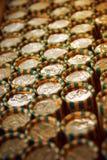 Pièces de monnaie roulées Image stock